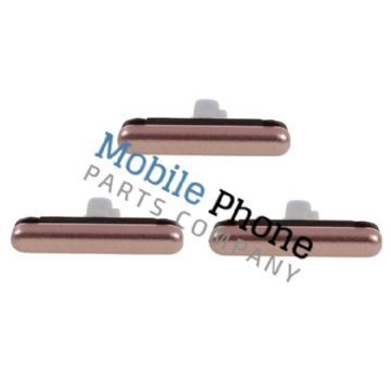 Genuine Samsung Galaxy S7 G930F External Button Set Rose Gold - Part No: GH98-38918C